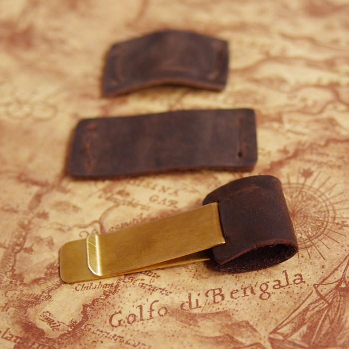 Гаджет  Handmade Metal brass leather pen clip holder  for Vintage genuine leather traveler notebook cowhide diary spiral loose leaf None Офисные и Школьные принадлежности
