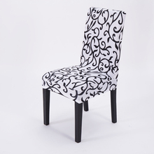 1PCS Printing Spandex Stretch Dining Chair Cover Restaurant For Weddings Banquet Folding Hotel Chair Covering(China (Mainland))