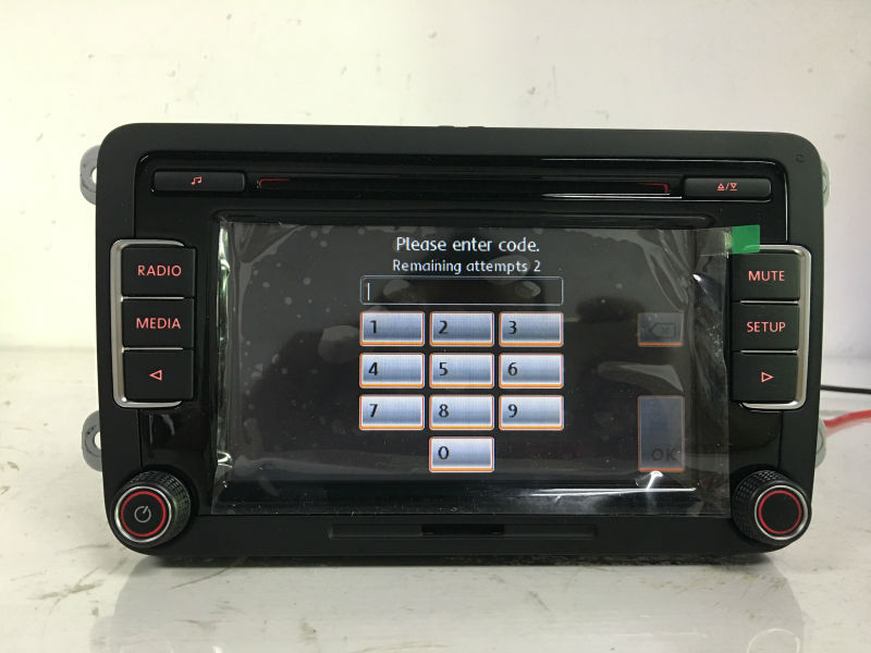 DHL Free Shipping Original 6CD Player Car Radio Stereo RCD510 Code USB AUX MP3 For VW Golf 5 6 Jetta MK5 MK6 Passat B6 CC Tiguan(China (Mainland))