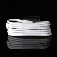 2015 Latest White Wire 8pin USB Date Sync Charging Charger Cable for iPhone 5 5s 6 6 plus iPad fit for ios 8 1M