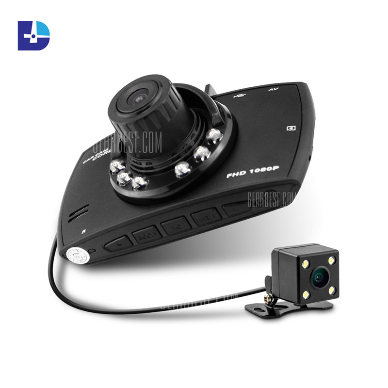hd dual lens car camera dvr 720p projector