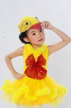 The new year's Day children small animal duck costumes kindergarten children cartoon fairy tale.