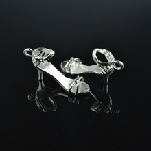 Buy 10pcs Silver Plated high-heeled shoes Charms alloy Pendants Bracelet Necklace Jewelry Making Accessories DIY 28*25*9mm 1714 for $1.37 in AliExpress store
