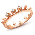 Hot Gold Plated CZ Zirconia Fashion Design Double CZ Diamond Engagement Rings For Women G1