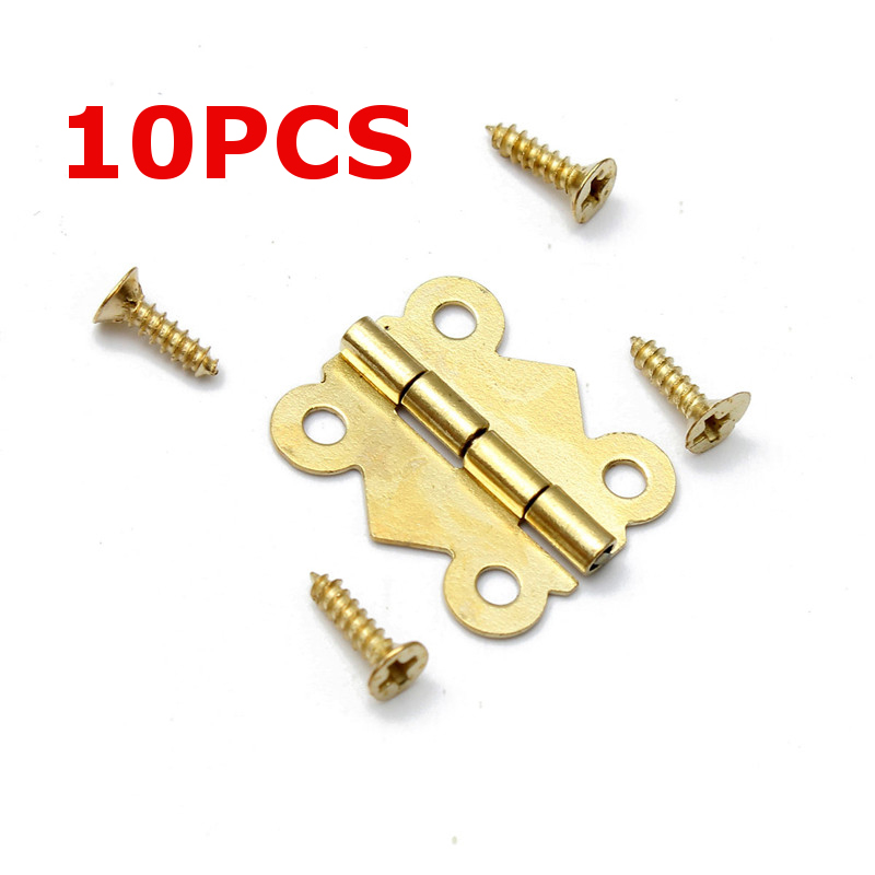 10Pcs High Quality Mini Butterfly Hinges Fashion Design Brass Color Cabinet Drawer Jewelry Box DIY Repair Tools(China (Mainland))