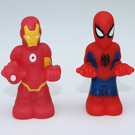 10 pcs/pack 7 cm mini spider man and iron man doll toys,The Avengers super hero action figure party and desk decoration.(China (Mainland))