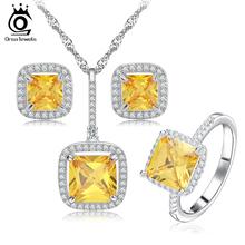 Princess Cut Simulated Diamond Zircon Jewelry Set for Women Wedding and Engagement OS67(China (Mainland))