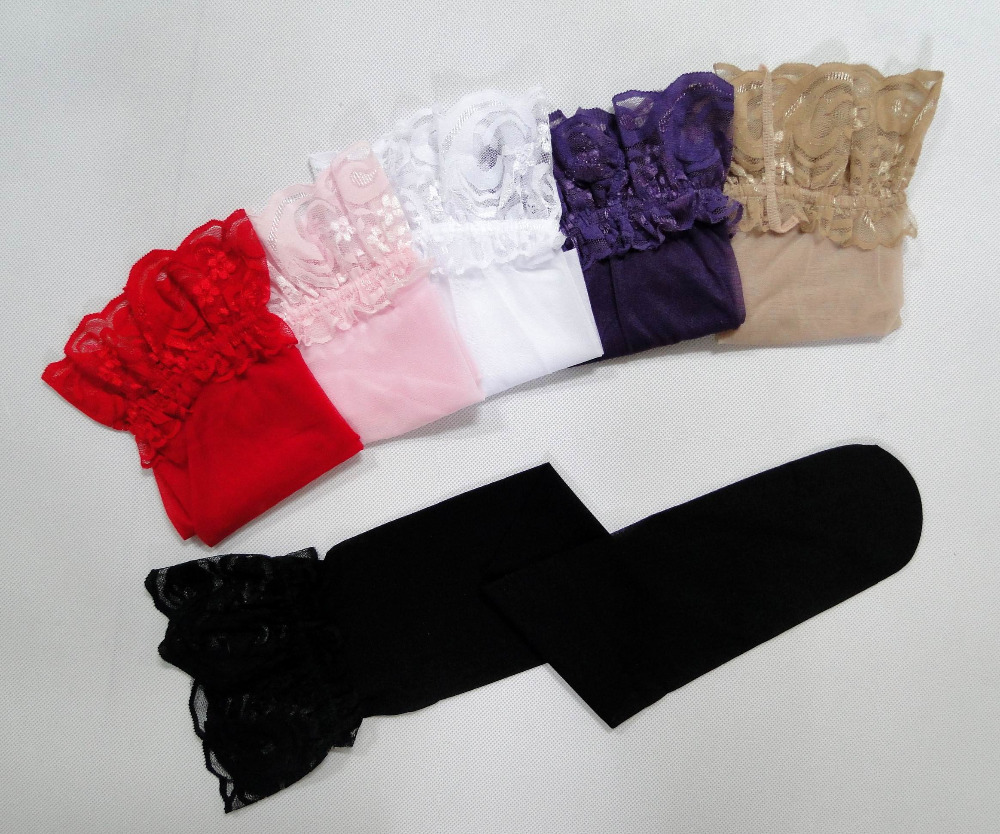 Гаджет  2014 women sexy sheer Lace Top Silicone Band Stay Up Thigh High Stockings Pantyhose AO1001 black, white red  6 colors None Одежда и аксессуары