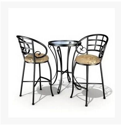 compra patio mesas redondas de metal online al por mayor