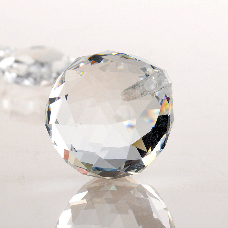 Clear 40mm Faceted Glass Crystal Ball Prism Chandelier Crystal Parts Hanging Pendant Lighting Ball Suncatcher Wedding Home Decor (2)