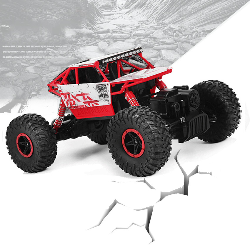 High quality RC Car 2.4Ghz 1/18 Scale Remote Radio Control 4 Wheel Drive Rock Crawler Toy Car a off-road race trunk toy for kids(China (Mainland))