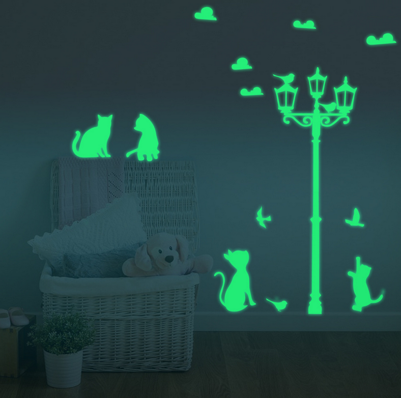 Free shipping DIY Funny Cute Cat Switch Decal Wallpaper Wall Home Decoration Bedroom Kids Room Light Parlor Decor Sticker zs0038
