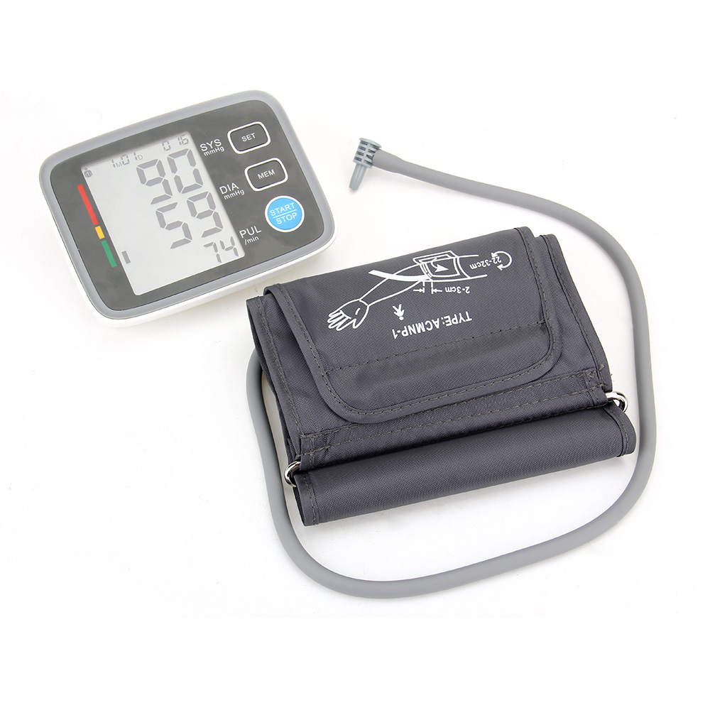 Health Care Large Digital LCD Arm Blood Pressure Monitor Automatic Pluse Heart Beat Rate Pulse Meter Measure Monitoring Tool(China (Mainland))
