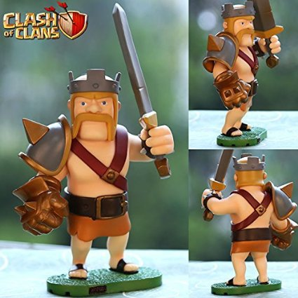 2015 New Action Figure Hot Game Clash of Clans COC Barbarian King 14 cm Brinquedos Car Decoration Toy Model In Box Freeshipping(China (Mainland))