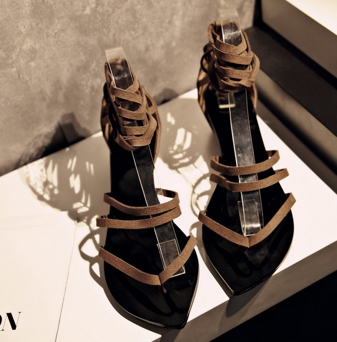 Shoes Summer Women Sandals 2015 Wedge sandals Genuine leather Fashion Flip-flop Straps Peep Gladiator Sandals Women