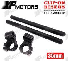 High Quality Black CNC 1 Riser Clip On Higher Clipons Handlebar Universal Fit 35mm Forks Fits