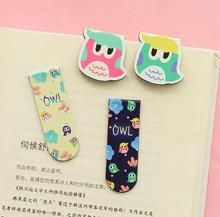 4 Set Kawaii Cute Owl Magnetic Bookmarks Books Marker of Page Stationery Office Supplies Kids Rewarding(China (Mainland))