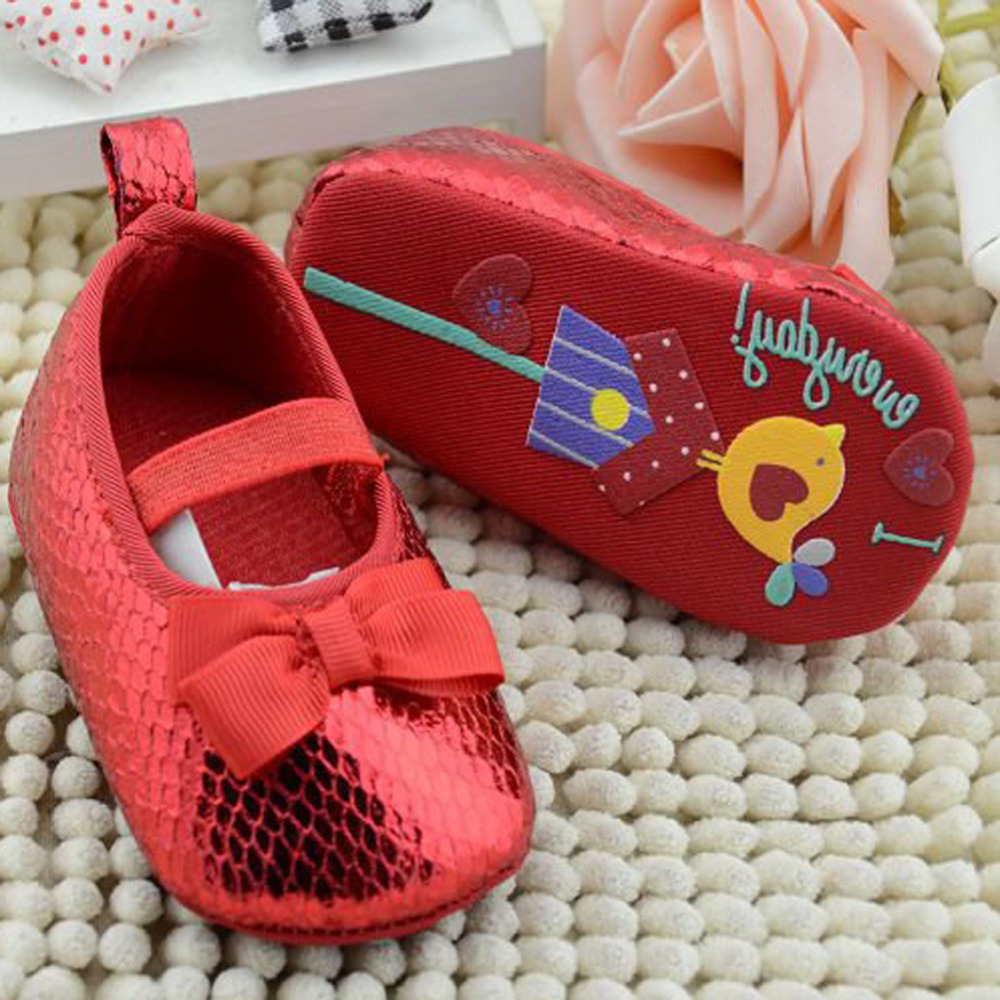 BS#S Baby Blinking Solid Soft Sole Cotton Toddler Shoes Infant Butterfly-knot Slip-On First Walkers<br><br>Aliexpress