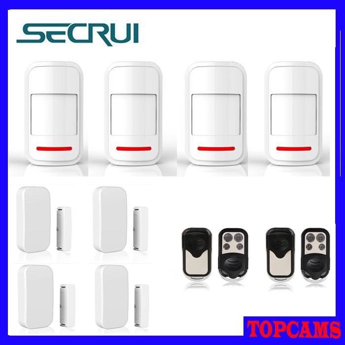 Kerui home security alarm System Wireless Non-antenna PIR  Detector+Wireless Non-antenna Door Sensor+Metal Remote Control<br><br>Aliexpress