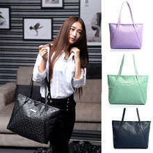 2016 New brand Womens fashion Handbag Leather Large Tote Lady shoulder bag
