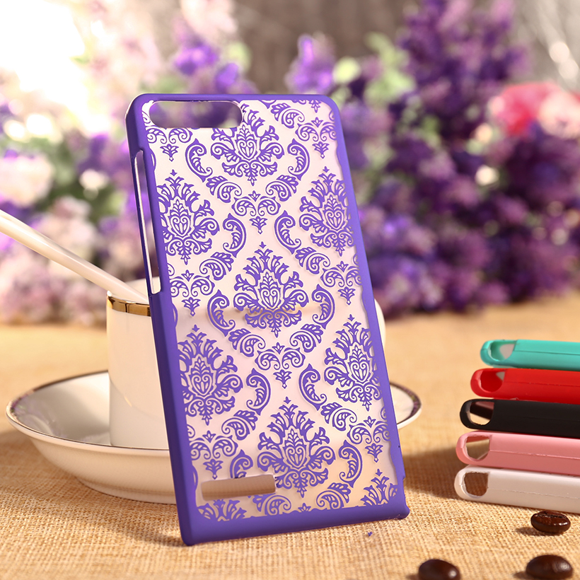 Flower Hollow Cases For Huawei Ascend G6 4G LTE G6-L11 P7 Mini Phone Case Cover For Huawei G6 4G Protector Sheath Back Housing(China (Mainland))