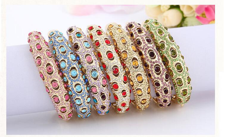 fashion Europe and America Multicolor striped bracelets Simple Bangle Bohemian vintage jewelry charming Bracelets(China (Mainland))
