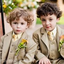 Fashion Hochzeit Anzug Für Jungen Anzüge Smoking Hochzeitsanzug Kleinkind Smoking Jungen Blazer Kinder (Jacke + Weste + Hose + Tie)(China (Mainland))