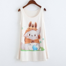 2015 New anime totoro Printing Tank Tops camisole Womens Sleeveless T Shirt Tee Vest cami Loose plus-size camisole tank DMLM8134(China (Mainland))