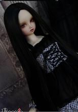 1/3 BJD boneca peruca preta longa reta fabricante de cabelo sd dd para o presente BJD cabelo grátis frete(China (Mainland))