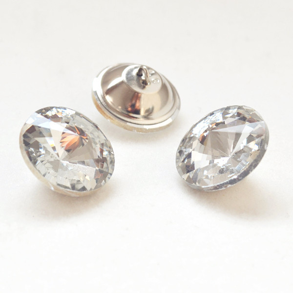 Гаджет  10pcs 20mm Crystal Clear Sofa buttons Sew on Sofa Chair Buttons with Stainless Steel Base Free Shipping None Мебель