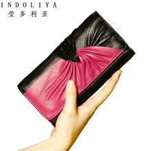 Buy Candy Color Genuine Leather Women Wallet Long Purse Vintage Solid Cowhide multiple Cards Holder Clutch Fashion Standard Wallet for $18.99 in AliExpress store