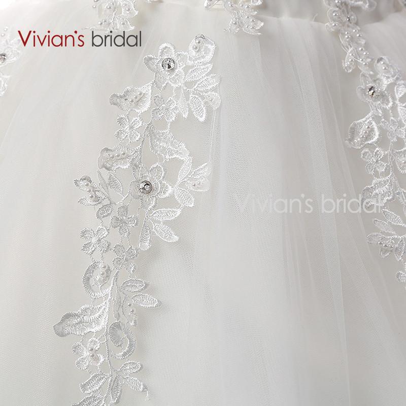 Vivian\'s Bridal A Line Lace Tulle Wedding Dresses 2 (3)