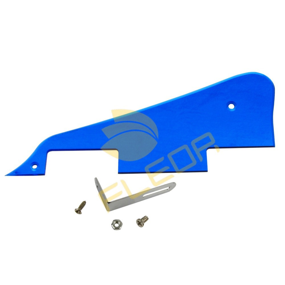 NEW Blue Mirror LP Guitar Pickguard Scratch Plate with Bracket(China (Mainland))