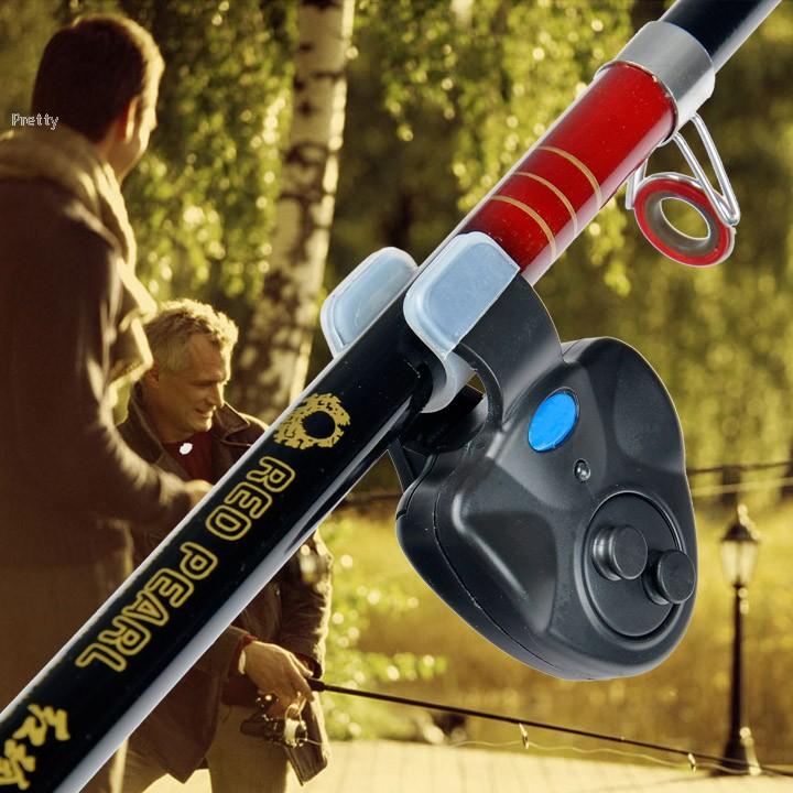 New 2015 Outdoor LED Clip Light Fishing Rod Electronic Bite Alarm Fish Ringer Battery 30(China (Mainland))
