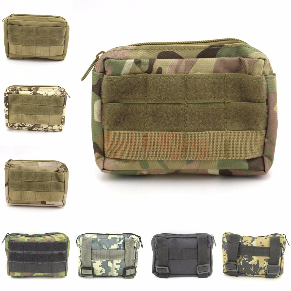 Гаджет  4*6 inch Travel Waist Pack Army Molle Waist Bag Utility Belt Pouch Outdoor Multifunctional Sundries Bag First Aid Survival Bag None Камера и Сумки