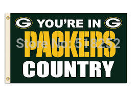 Green Bay Packers Flag 3x5 FT Banner 100D Polyester NFL flag 186, free shipping(China (Mainland))