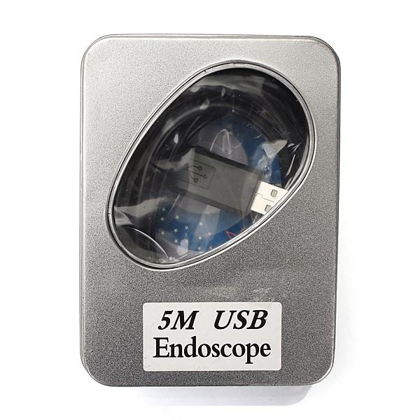HD New Best Promotion 5m 7mm 6 LED USB Waterproof Borescope Endoscope Inspection Snake Tube Mini Endoscope Camera Long Lasting(China (Mainland))