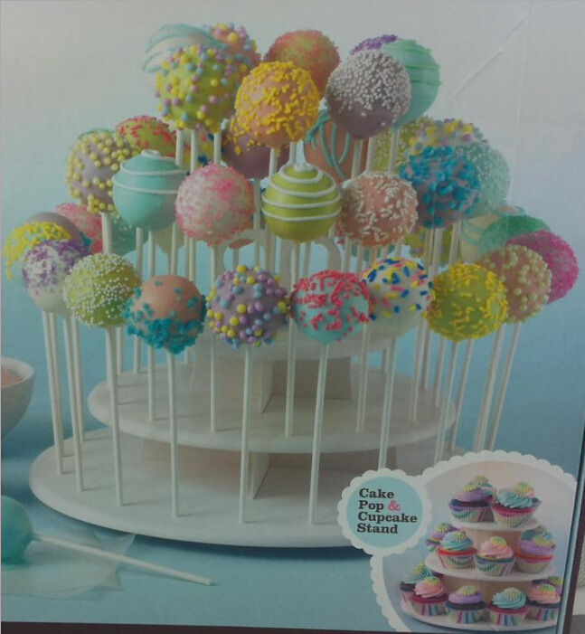 Cake Pop & Cupcake Stand High Quality New Cupcake Stand Lollipop Holder Muffin Serving Birthday Useful Cake Stand 3 Tier(China (Mainland))