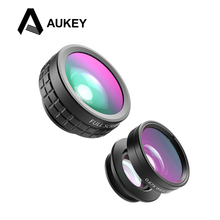 Buy AUKEY 3in 1 Clip-on Cell Phone Camera Fish eye Lens 180 Degree Fisheye Lens + Wide Angle + Macro Lens iPhone Samsung Xiaomi for $11.06 in AliExpress store