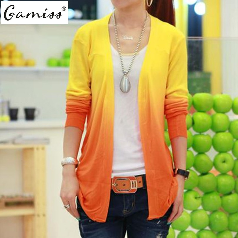 Gamiss 5 Colors Spring 2016 New Fashion Womens Cardigan Coat Ladies Long Sleeve Knitted Sweater Casual Knitwear High Quality(China (Mainland))