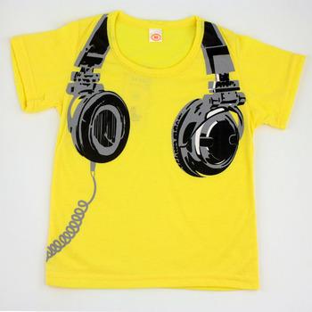Мальчики одежда наушников дизайн рубашки мальчики-младенцы девочки короткий рукав ...