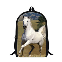 Buy 2017 Horse School Bags Boys Teenagers Bagpack animal printed backpacks mochilas cool horse back pack girls cute day pack for $19.99 in AliExpress store