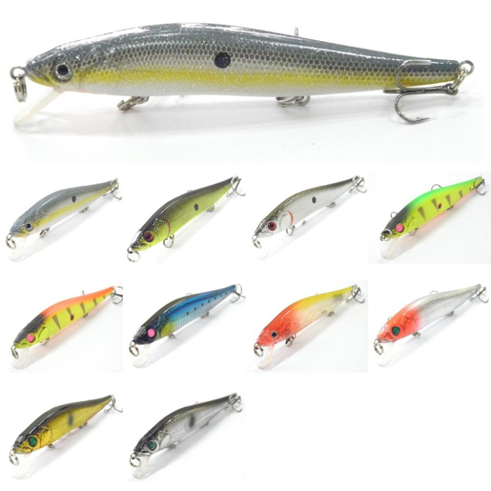 wLure Fishing Lure Minnow Shallow Water Slow Wobble Jerkbait Heavy Body ABS Construction Long Casting 18.9g 12cm Hard Bait M262(China (Mainland))