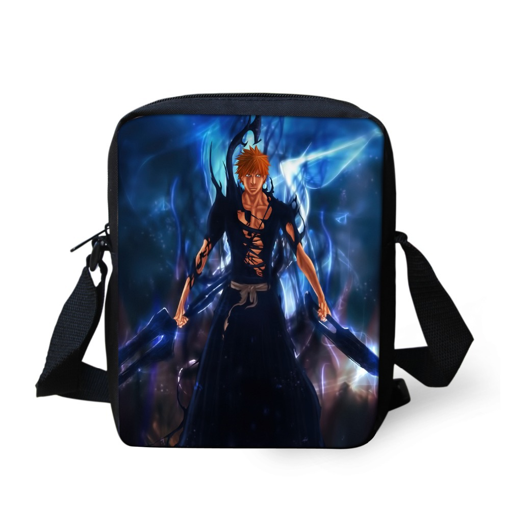 Fashion Men Messenger Bags 3D Cartoon Printing Sling Bags Bleach Death Note Shoulder Bags for Boys