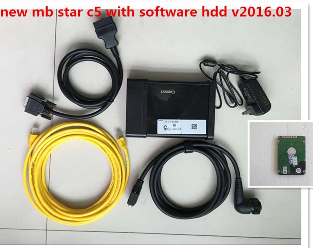 Нью-мб SD C5 звезда C5 SD подключения компактный 5 поддержка wi-fi с программным обеспечением v2016.03 hdd 250 г многоязычным