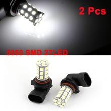 2 Pcs/lot Car 9006 Bayonet 5050 SMD 27 LED White Fog light Head Light Bulb Lamp DC 12V Size 45mm x 35mm x 57mm (L*W*H)(China (Mainland))