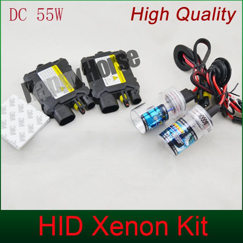 Free Shipping 55W hid Xenon Kit 2pcs ballast H1 H3 H4-1 H8 H7 H11 9005 9006 880/1 single beam 3000K-12000K for car headlight(China (Mainland))