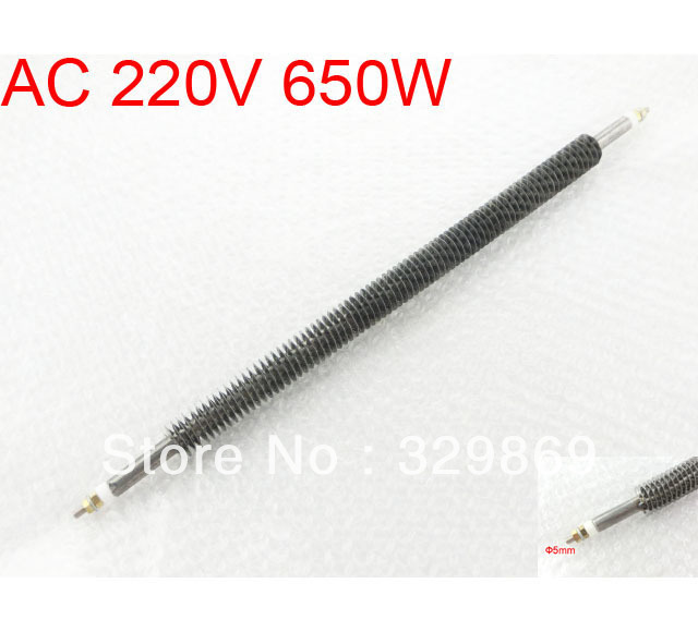 Stainless Steel Straight Type Electric Heating Element Heater AC 220V 650W(China (Mainland))