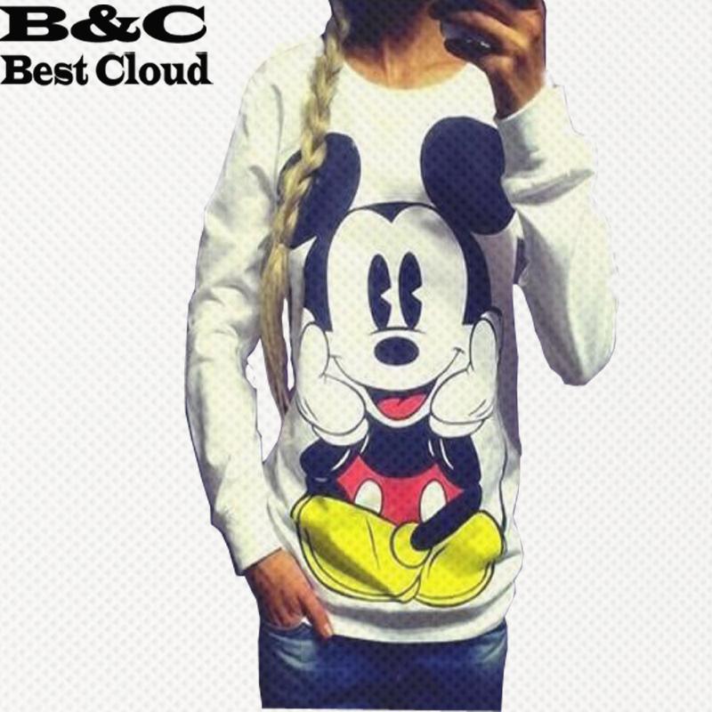 New !!! casual Printed Women Sweatshirt Loose Mouse Cartoon hoodies hoodie Sport Suit women Hoody Costumes tracksuits(China (Mainland))