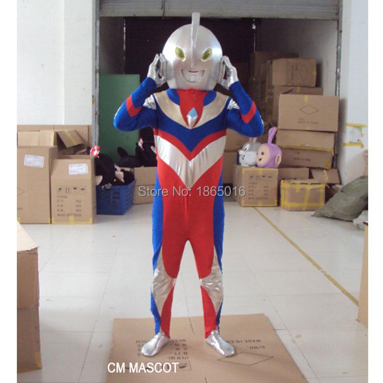 Ultraman adult size costume mascot costueme free shipping CM mascot 1pc(China (Mainland))